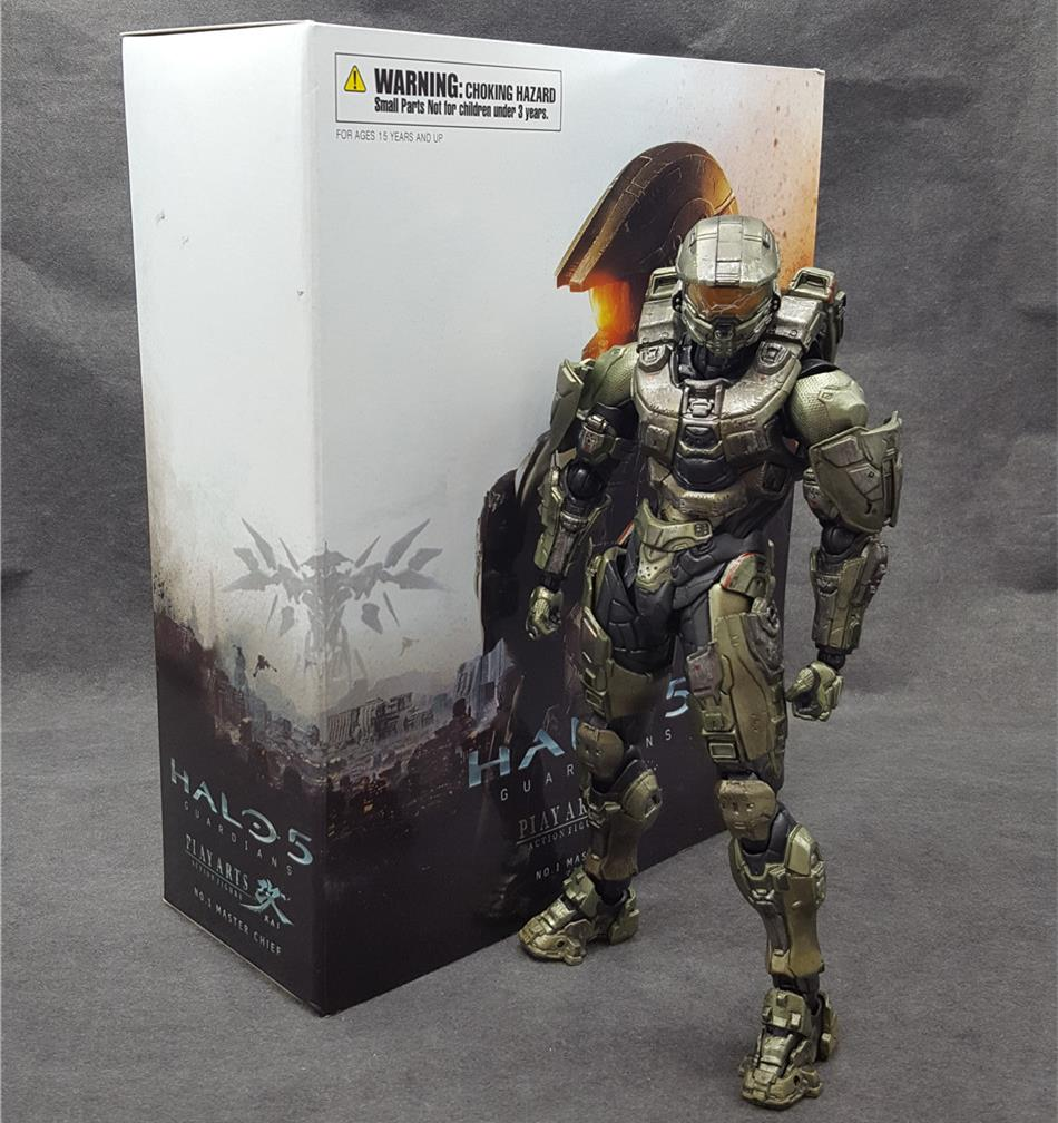 SAINTGI HALO Guardians Master Chief PVC 26CM Action Figure Collection Model Dolls Kids Toys Free Shipping kai halo 5 guardians play arts reform master chief action figure