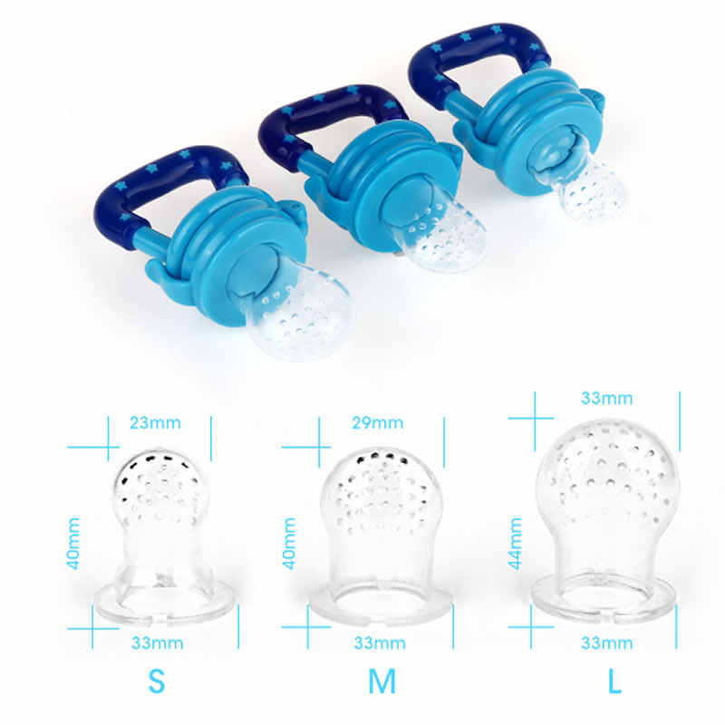 Children baby silicone pacifier baby pacifier child baby fruit feeder nipple bottle baby food supplement