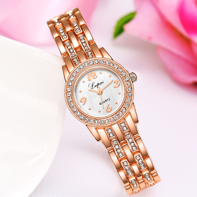 Top Brand Luxury Waches Women Stainless Steel Watch Rose Gold Bracelet Watch Fas