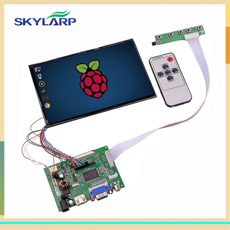 skylarpu 7 inch High Resolution IPS 39Pins Screen Multifunctional Driver Board with AV2 HDMI VGA for Raspberry Pi(without touch) skylarpu 7 inch raspberry pi lcd screen tft monitor for at070tn90 with hdmi vga input driver board controller without touch