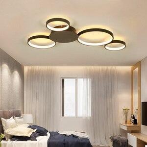 Image 2 - Kawa lub białe wykończenie nowoczesny żyrandol sufitowy Led światła do salonu Master Room AC85 265V Led żyrandol lampy