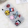 Kisscase adorável phone case para iphone 7 7 plus ultra fino tpu pó do brilho dos desenhos animados capa para iphone 7 7 plus doce amante capa