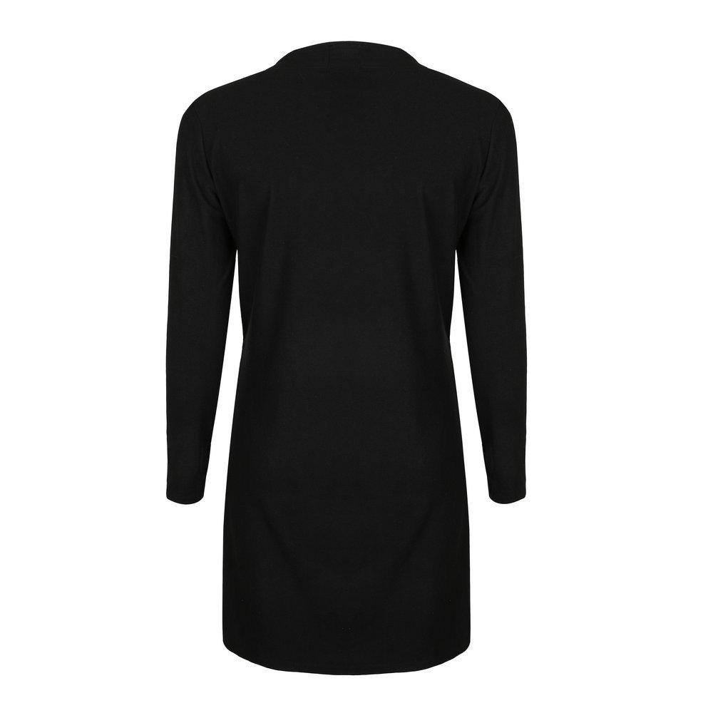 30928b2f2b 2019 Sweater Long Cardigan Women Fashion Winter Black Long Sleeve ...