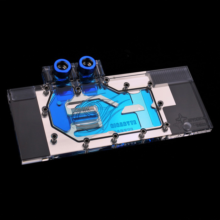 For Gigabyte GTX 980 G1 WF3OC GAMING 4GD jet full cover computer graphics Video card water cooling head block radiator qqv6 aluminum alloy 11 blade cooling fan for graphics card silver 12cm