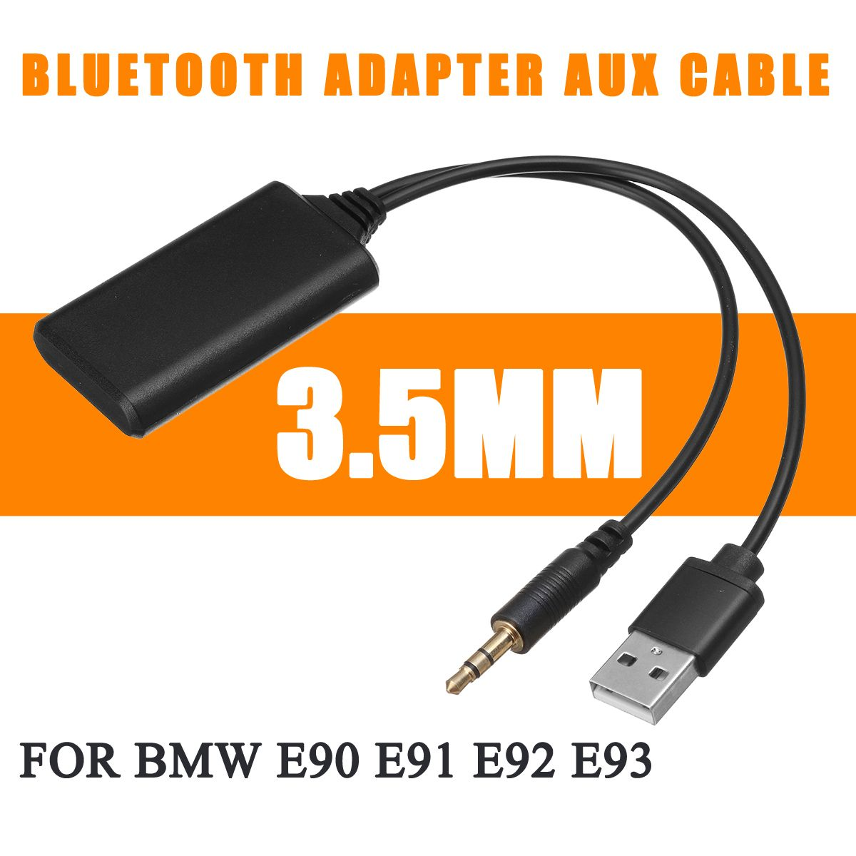 <font><b>12V</b></font> <font><b>bluetooth</b></font> Module <font><b>Adapter</b></font> Wireless Radio Stereo <font><b>AUX</b></font>-IN <font><b>Aux</b></font> Cable <font><b>Adapter</b></font> USB 3.5MM Jack Plug For BMW E90 E91 E92 E93 image