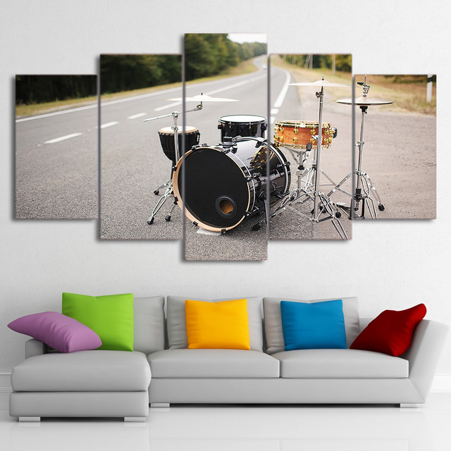Modern Home Wall Art Frame Pictures Decor HD Printed 5 Pieces Music ...