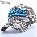 XTHREE Nova forma das crianças do Algodão camuflagem boné de beisebol Casuais chapéu da menina para o verão crianças cap para o menino