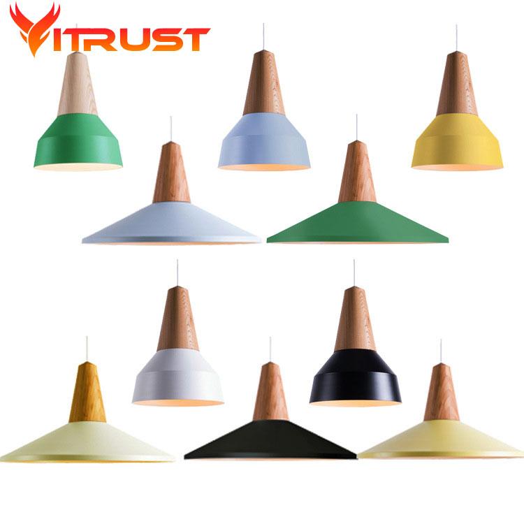 Luminaire Suspendu lampara Colgantes salle à manger suspension lumières abat-jour suspension lampe bar simple suspension éclairage