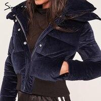 Женская бордовая вельветовая куртка-парка Simplee, утепленная простая куртка, хлопковая повседневная верхняя одежда на осень и зиму