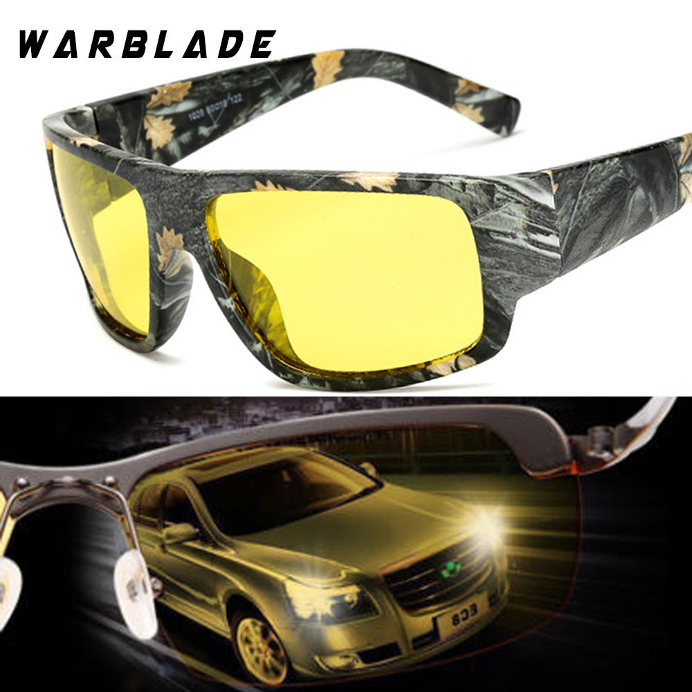 ab46e94a4a2 WaraBLade Night Vision Glasses Male Anti glare HD Polarized Sunglasses Men  Women Driving Glasses Yellow Driver Eyewear 1028-in Sunglasses from Apparel  ...