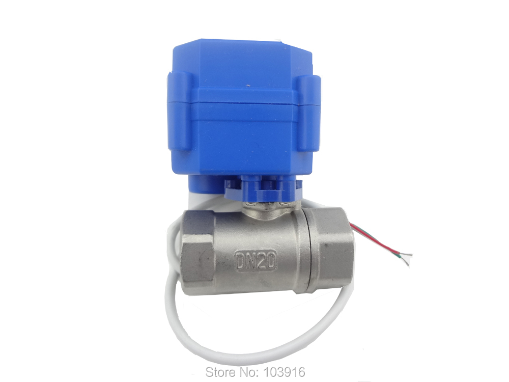 "Banjo Electric 3 Way Directional Ball Valve: 2 Way 12VDC CR04 Motorized Ball Valve G3/4"" DN20 (reduce"