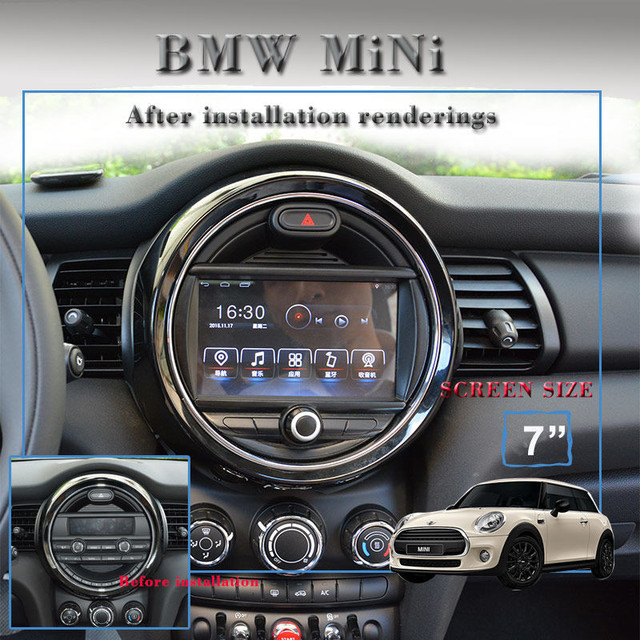 Android 7.1 Car Multimedia Player for Mini Cooper 2014