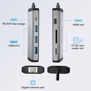 Image 2 - Vention Usb רכזת סוג C כדי HDMI USB 3.0 רכזת Thunderbolt 3 מתאם עבור MacBook סמסונג S10 Huawei Mate 20 p30 פרו אפל USB C רכזת