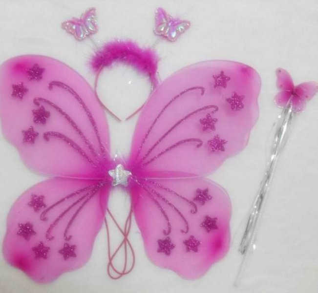 Wholesale 50sets lot hallowen butterfly fairy wings magic for Butterfly wands wholesale