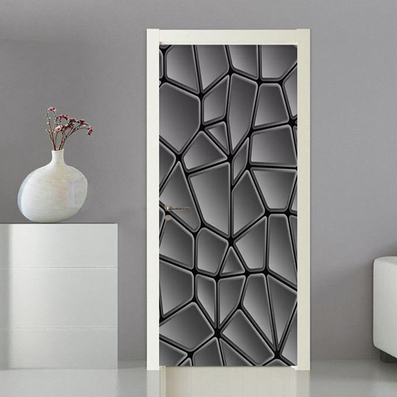3D Wallpaper Modern Simple Abstract Geometry Black And White Art Murals Door Sticker Living Room Home Decor PVC 3D Wall Stickers