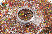 HA2104-222 Laser Holographic Coffee Color Hexagon Shape Glitter Sequins for nail art DIY decoration Halloween's decorations