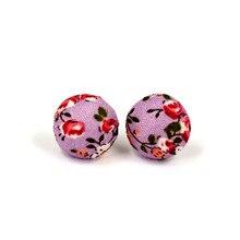 OATHYAN 36 Pairs/Lot Random Print Flower Stud Earrings