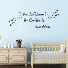 If You Can Dream It Do Quotes Wall Decal Kids Quote Sticker Baby Nursery Decor Cartoon Cut Vinyl Q256