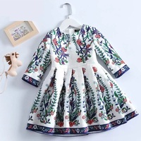 Spring Mom & Kids girls Clothing Family Matching Outfits children girl Fashion floral full sleeve Dress Mother daughter dresses
