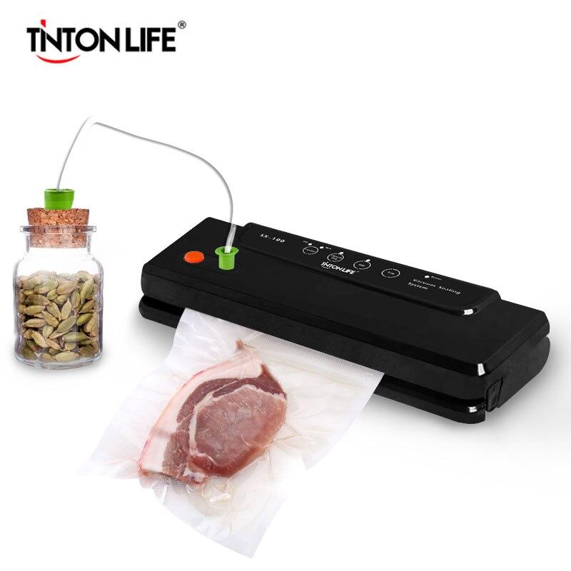 TintonLife бытовой многофункциональный вакуумный упаковщик автоматический вакуумный уплотнение Системы Сохраняет свежий до 7x больше SX-100