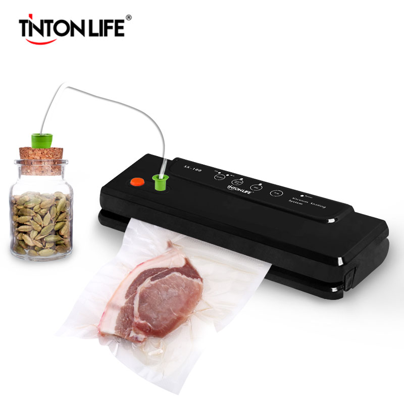 TintonLife Household Multi-function Vacuum Sealer Automatic Vacuum Sealing System Keeps Fresh up to 7x Longer SX-100