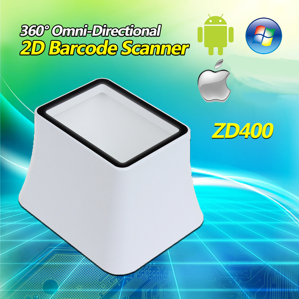 360 Degree Omnidirectional Desktop 2D Screen Barcode Scanner For Android IOS 2D QR Code Data Matrix PDF417 Code Bar Scanner 2d wireless barcode area imaging scanner 2d wireless barcode gun for supermarket pos system and warehouse dhl express logistic
