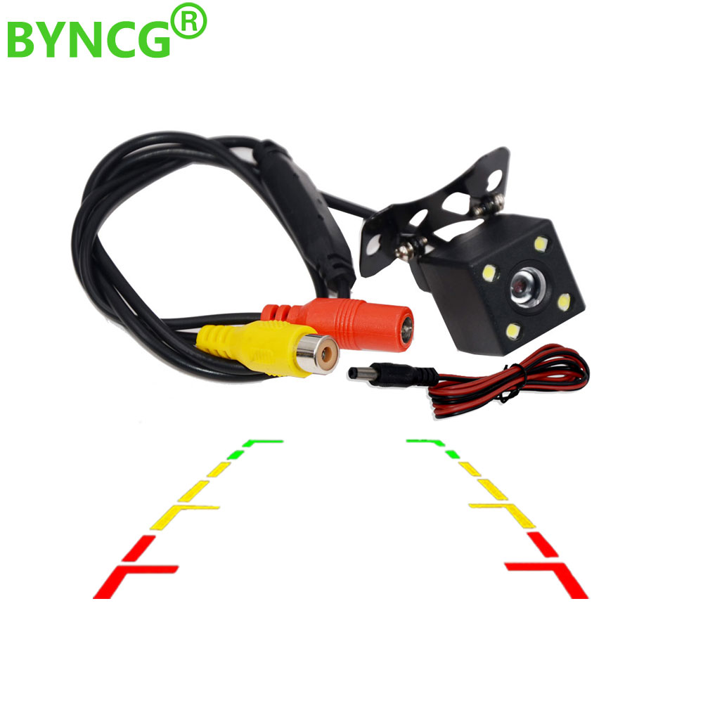 Aparcamiento asistencia Cámara de vista trasera del coche retrovisor inversa reverencia de respaldo con CCD LED amplio grado de re para auto la noche visión