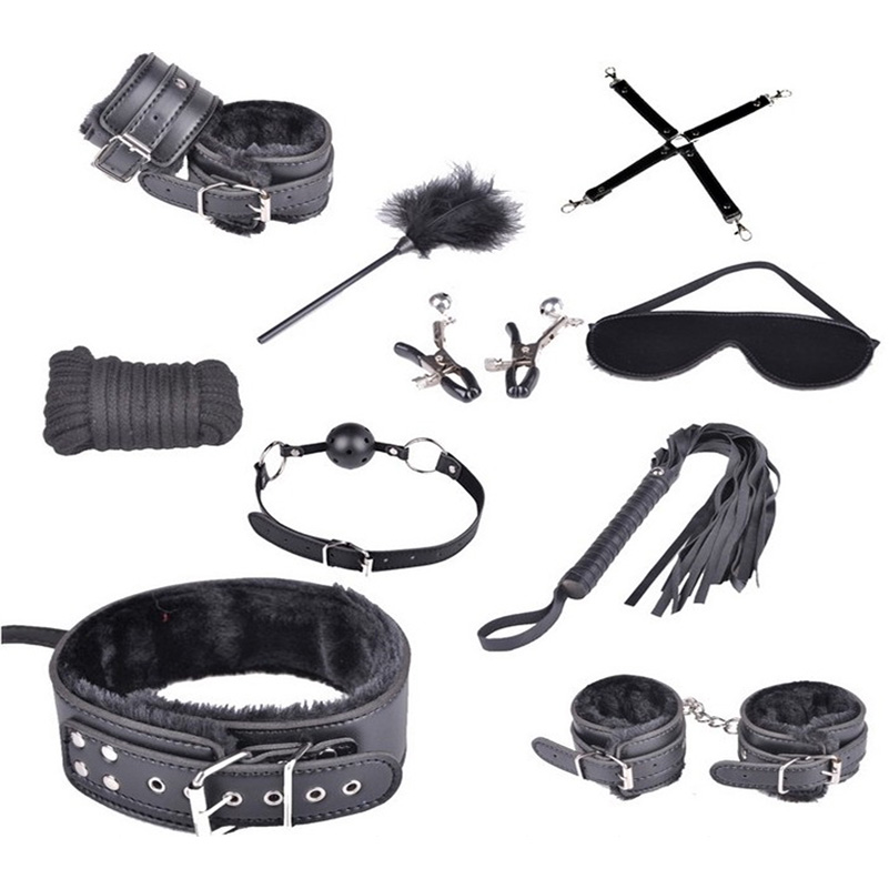 10 Pcs/Set New Sex Bondage fetish Kit Restraints Women Adult Games Sex Toys for Couples Foot Handcuffs Sex Tools for Sale кошельки бумажники и портмоне petek 293 000 222