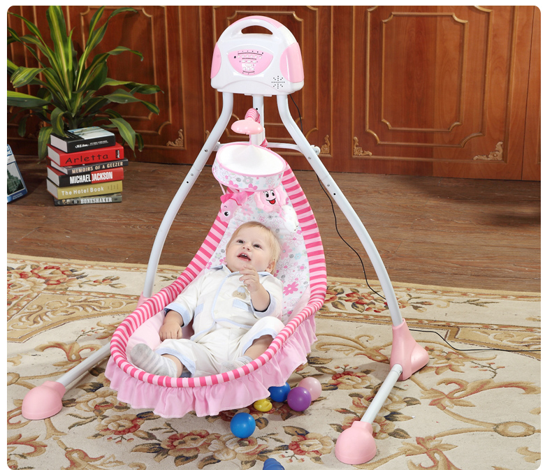 Primi baby electric rocking chair baby cradle bed crib 2017 new babyruler portable baby cradle newborn light music rocking chair kid game swing