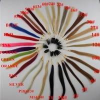 100 Human Hair COLOR RING COLOR CHART For Hair Extensions 34 Different Colors With Ombre Color