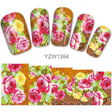 2018 New Models, Watermark Stickers, Chrysanthemums, Small Fresh Nail Applique, Stickers.YZW1394