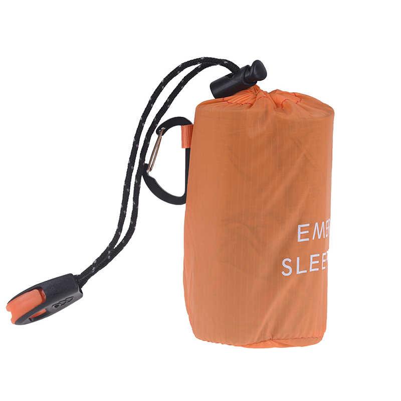 Hotฉุกเฉินถุงนอนกันน้ำSurvival Campingกระเป๋าเดินทางและนกหวีดสำหรับCAMPING