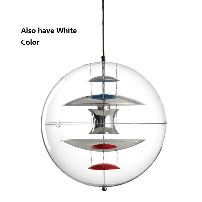 Moderne Verpan VP Globe Pendentif Lumières Acrylique Abajur Salle À Manger Chambre hanglamp Bar Hôtel GU10 LED luminaire lampe vintage