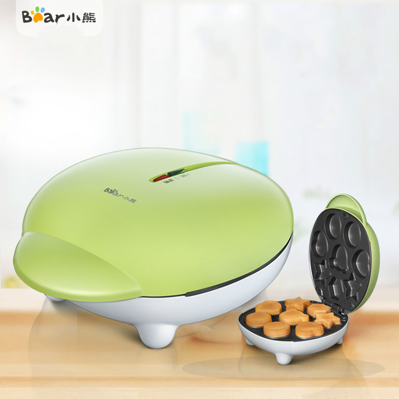 Bear Household Mini Cake Maker Machine 8 Moulds Non-stick Easy Operation Double Sided Electric Baking Pan Bread Waffle Maker double pans small pancake machine poffertjes machine with non stick pan poffertjes grill waffle maker with 50 pcs moulds