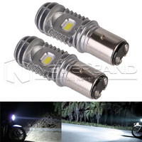 2pcs BA20D Hi Lo 40W 6000K 9 85V High Quality Motorcycle ATV LED Headlight Bulbs DRL