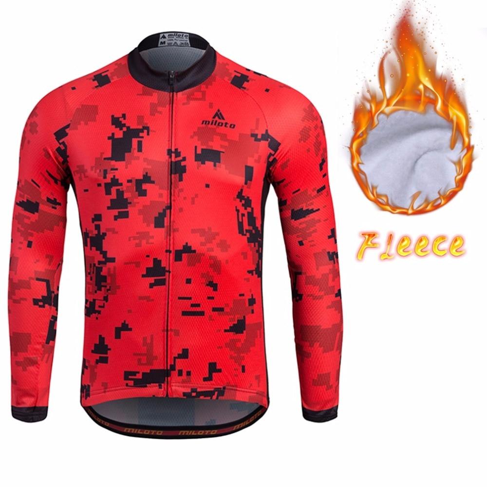 Hiver course Fit hommes cyclisme maillot thermique à manches longues route vélo Jersey polaire réfléchissant vélo vélo vélo Jersey XXS-5XL