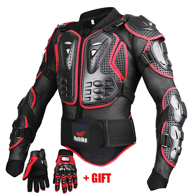 Moto rcycle chaquetas protección completa del cuerpo negro