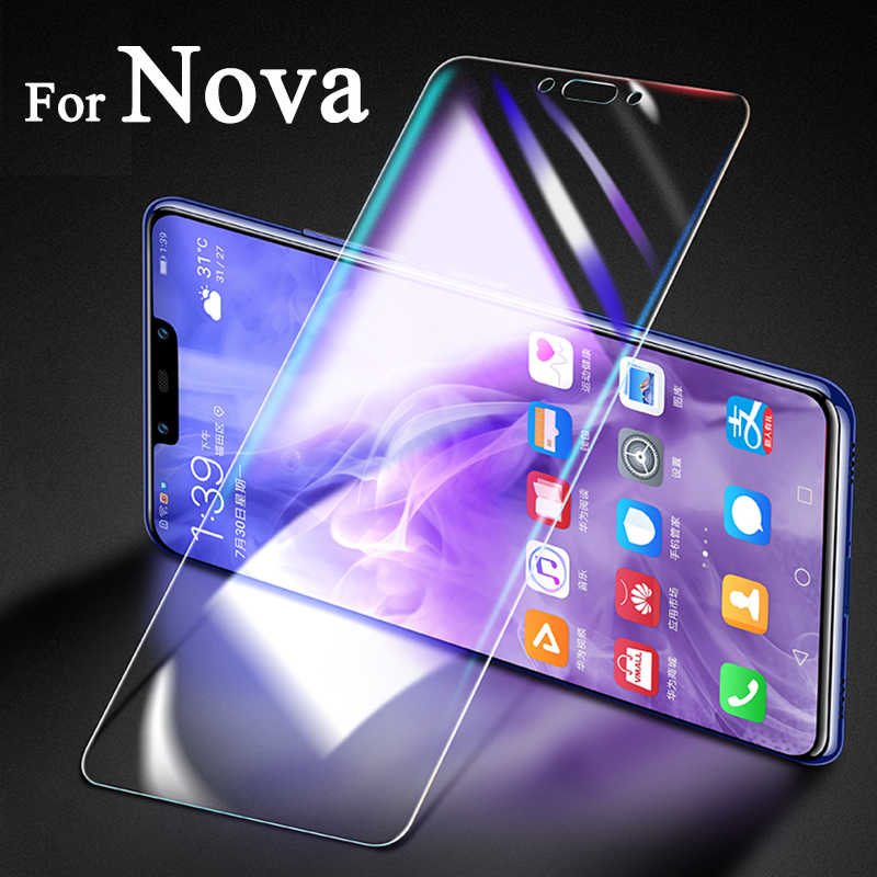 Protección de vidrio para Huawei Nova 3 3i 2 más 4 e 5 pro Protector de pantalla Huawey Nova3e Nova3i tremp Glas Nova2 I2 I3 Huavei