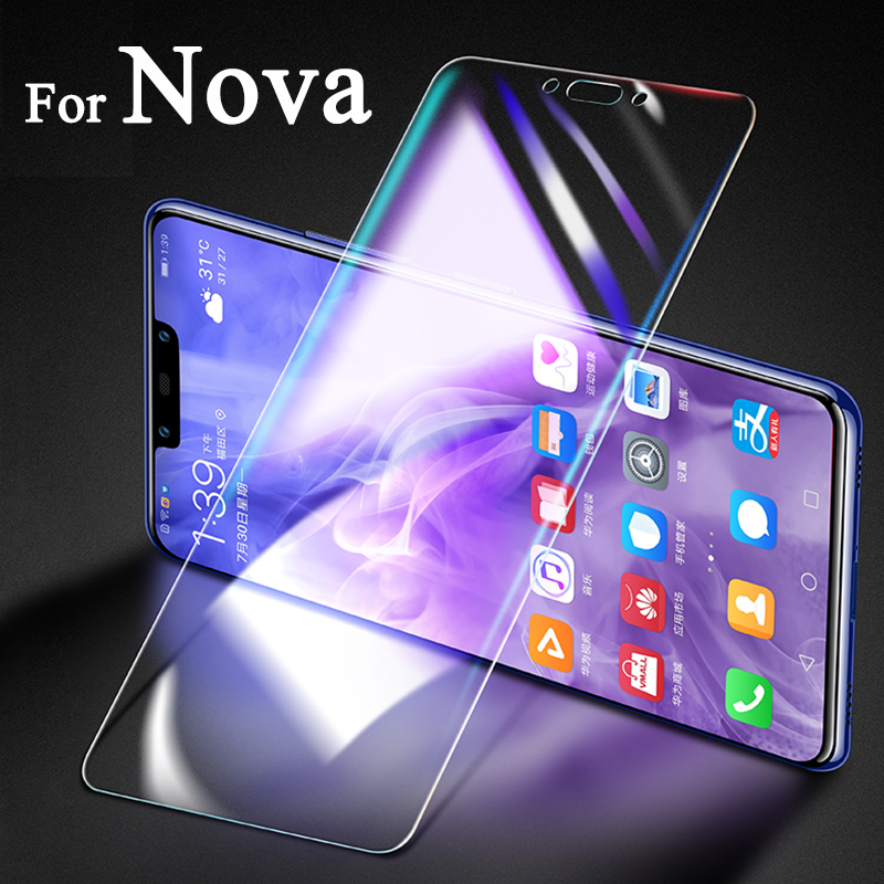 Protective Glass On For Huawei Nova 3 3i 2 Plus 4 E 5 I Pro Screen Protector Huawey Nova3e Nova3i Tremp Glas Nova2 I2 I3 Huavei