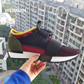 WEIMIAN Lovers Style Unisex Brand Patchwork Man/Woman Casual Shoes Outdoors Fashion Genuine Leather Breathable Shoes Flats