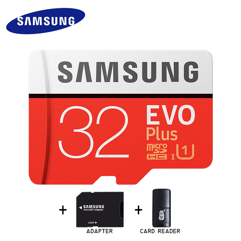 Samsung microsd 16gb memory card 32gb 64gb 128gb 256gb EVO+ micro sd card 100MB/S mini red card safe for phone/tablets
