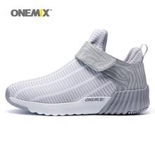 Купить с кэшбэком Onemix Women Autumn&Winter Suede Leather Sneakers Hairy Boots Outdoor Warm Durable Running Shoes Women's Sport Shoes Sneakers