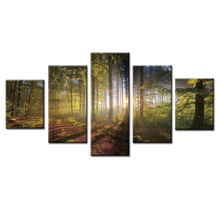5 Panels Pastoral landscape series Canvas Print Painting Modern Wall Art for Picture Home Decor Artwork