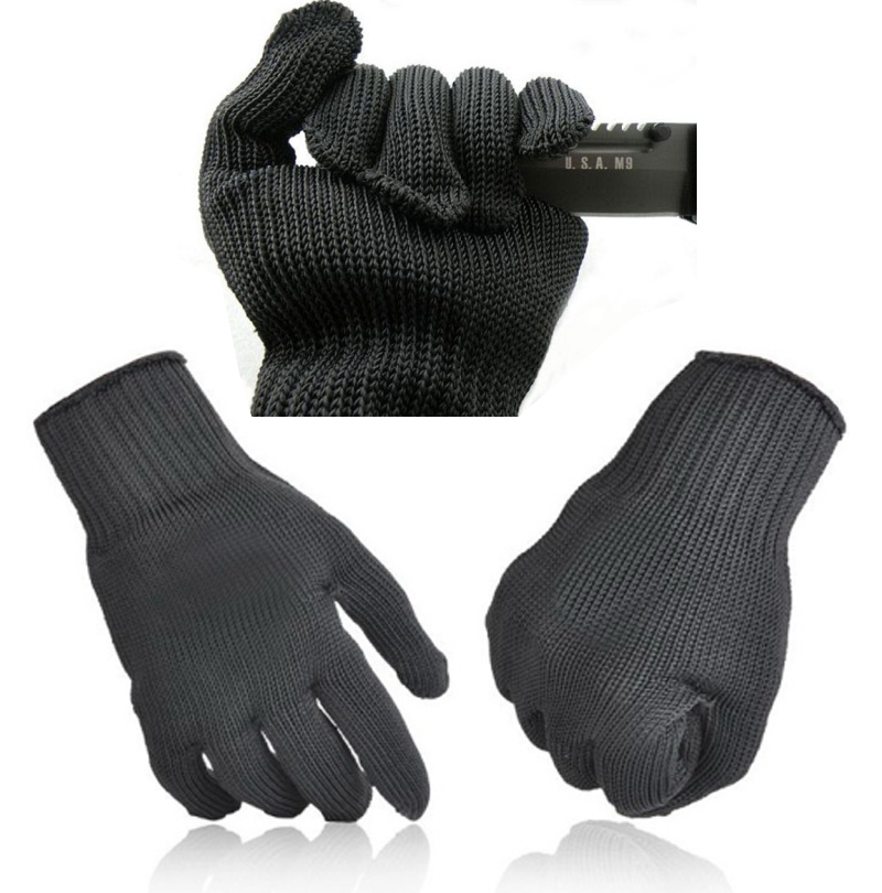 1 Pair Anti-cutting Glove Personal Safety Glove Cutting Resistance Protection Personal Self Defense Anti-cut Glove