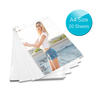 A4 papier fotograficzny błyszczący drukarki papier fotograficzny wodoodporny odporny na wysoki połysk papier do drukarek atramentowych biuro 20 arkuszy tanie i dobre opinie A4 Size 20 Sheets Glossy Photo Paper Pokrowiec laminatora Aibecy OS2353-1 A4 4R(optional) A4(20 sheets) 29 7 * 21 0cm suitable for color inkjet printer
