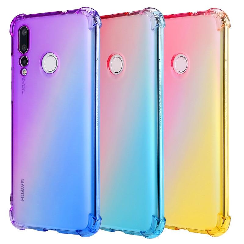 Handys & Telekommunikation Huawei Nova 4e/huawei P30 Lite Farbe Schrittweise Ändern Tpu Weichen Telefon Fällen Für Huawei Nova 3 4/ Nova 3i/honor V20/honor 10 Lite Handytaschen & -hüllen