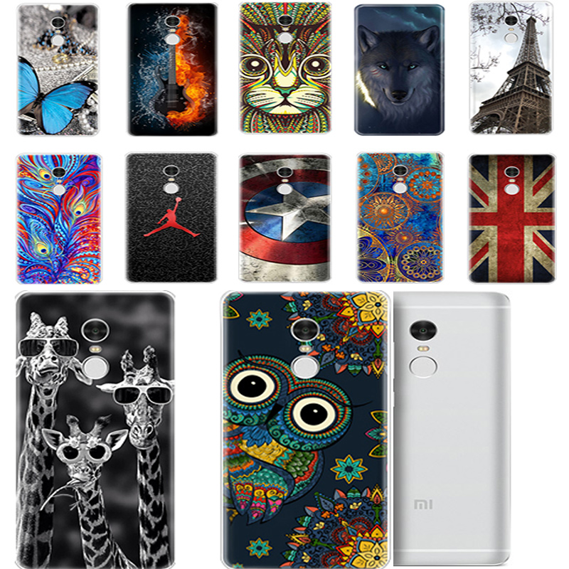For Xiaomi Redmi Note 4 Case Xiaomi NOTE 4 Pro case Silicone 3d Soft Painted owl Animal Shockpr