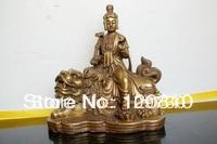 bir 00177 Tibet Buddhism Manjushri Bronze buddha Statue