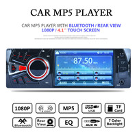 1 DIN Car MP5 Player 4 1 Screen Display FM Radio Station OLED Audio Stereo Bluetooth