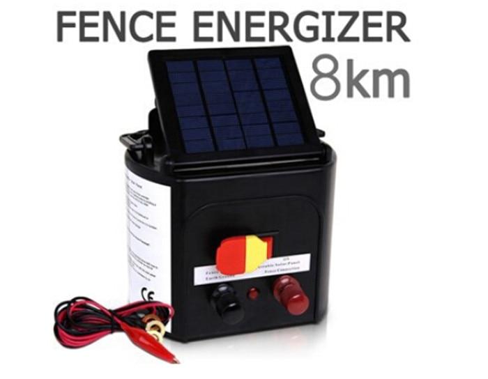 Panel solar ajustable 0.3J ovejas caballo solar energizador cargador ...